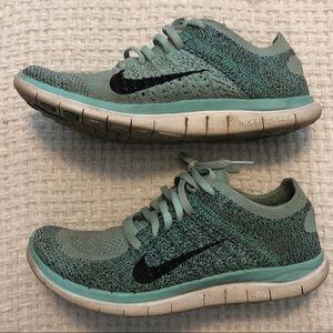 Tiffany Blue Women's Sneakers | Nike Free FlyKnits